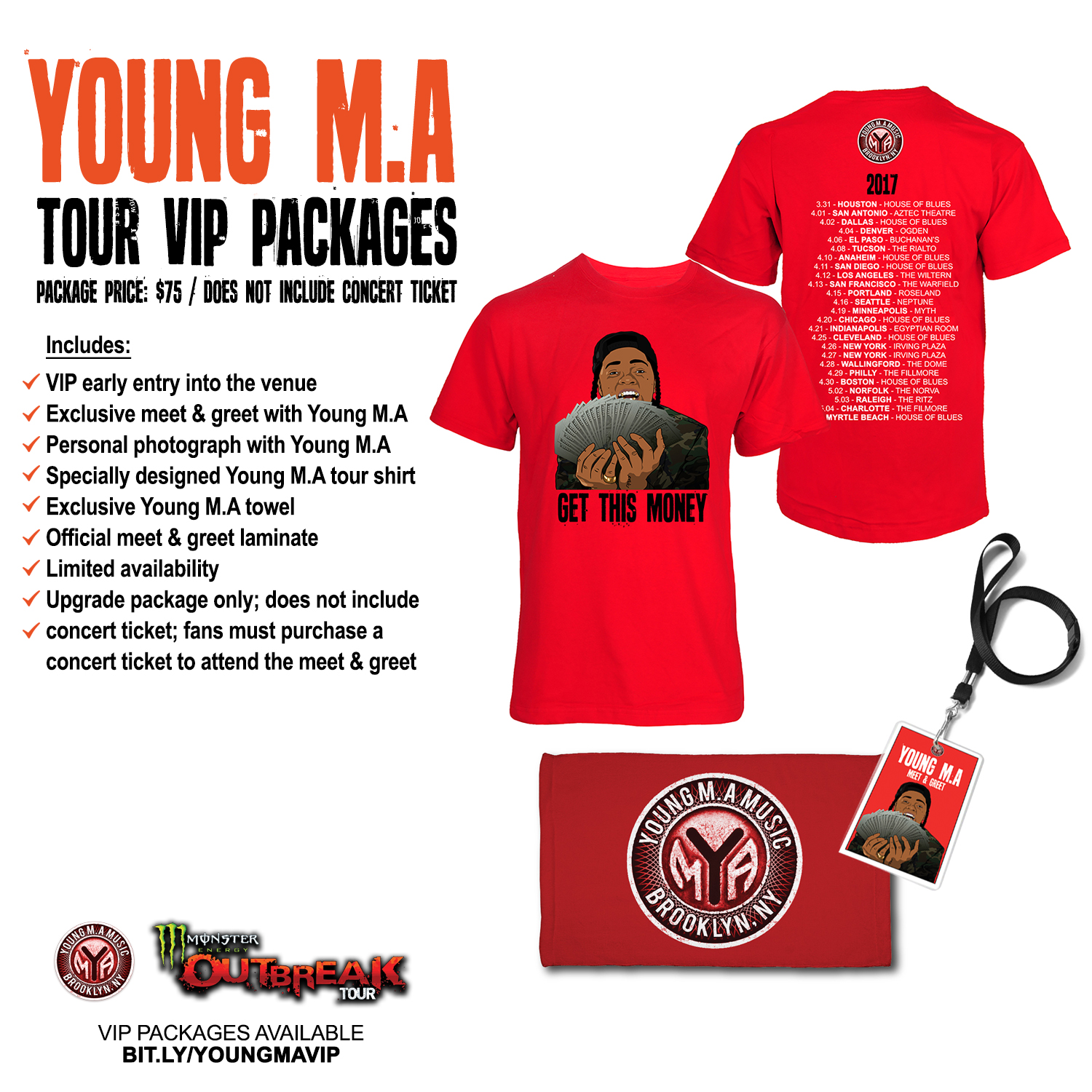 Young ma x 21 savage monster energy outbreak tour young ma music click here for all tickets and vip packages m4hsunfo